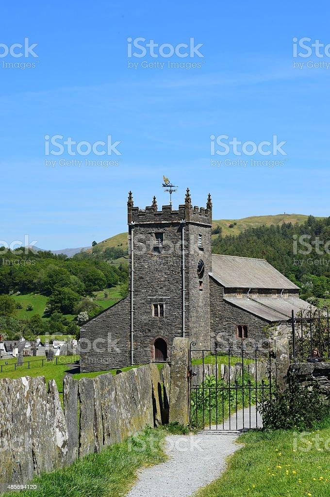 Stone Church in the English Lake District stock photo