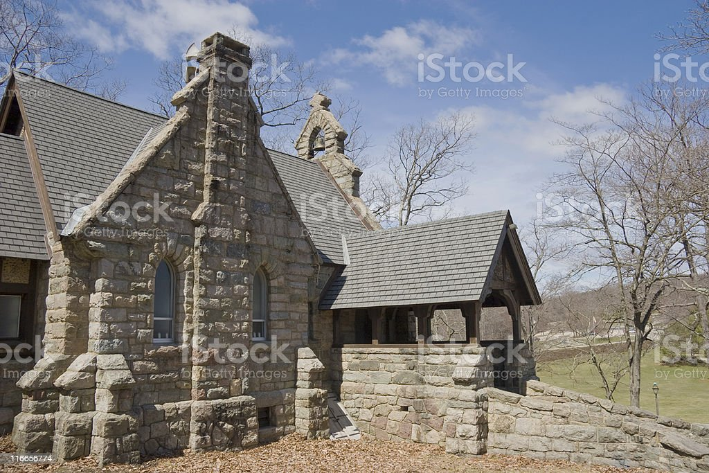 Stone Church stock photo