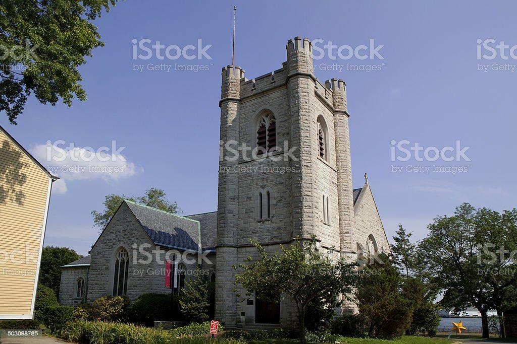 Stone Church stock photo