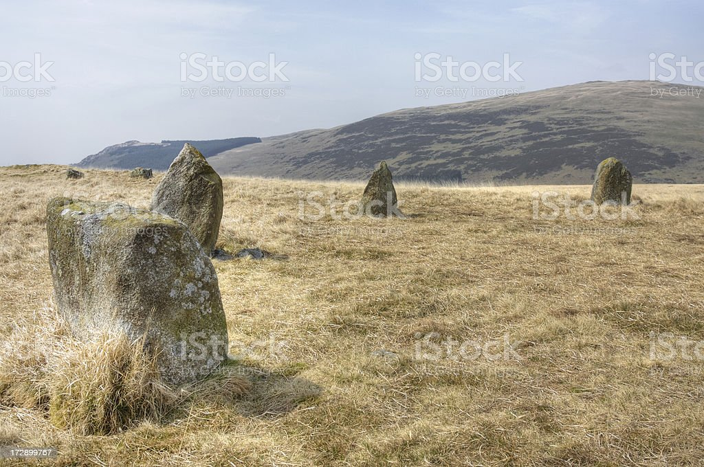 Stone Circle, Eskdale Moor royalty-free stock photo