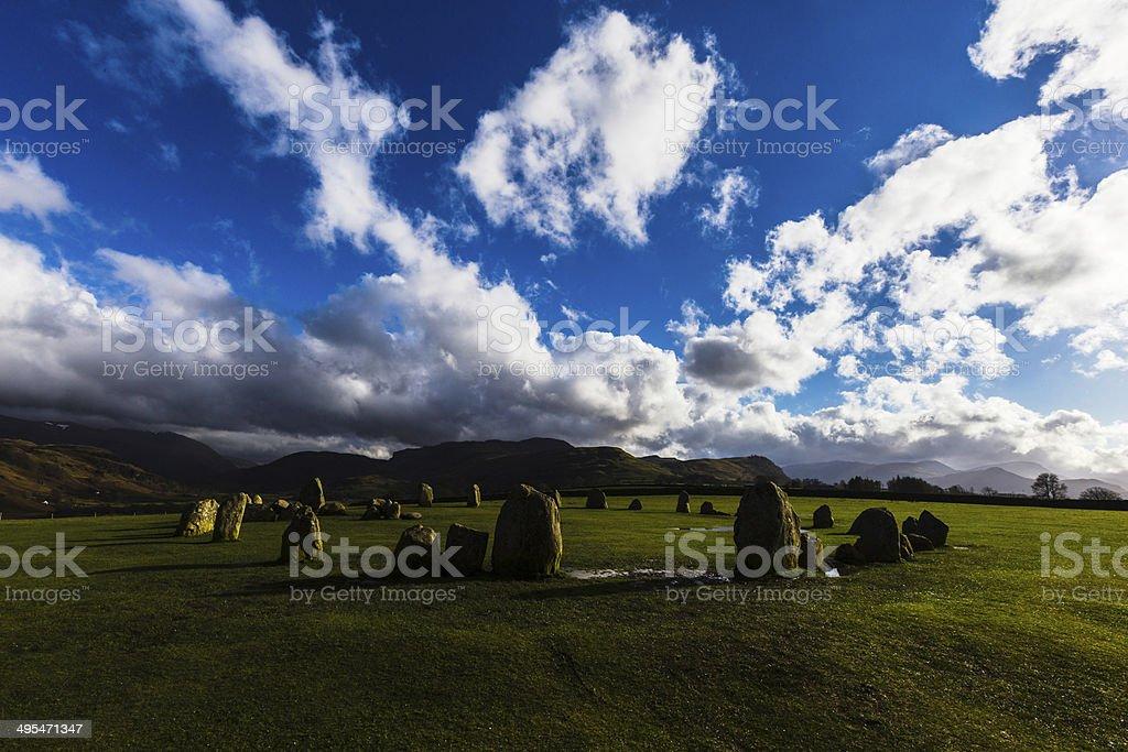 Cercle de pierres photo libre de droits