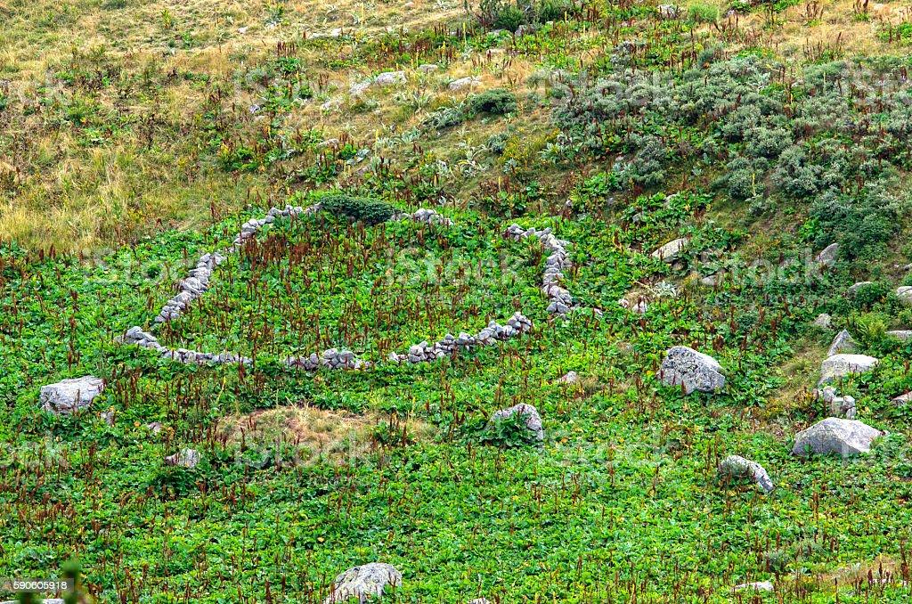Stone circles in the mountain royalty-free stock photo