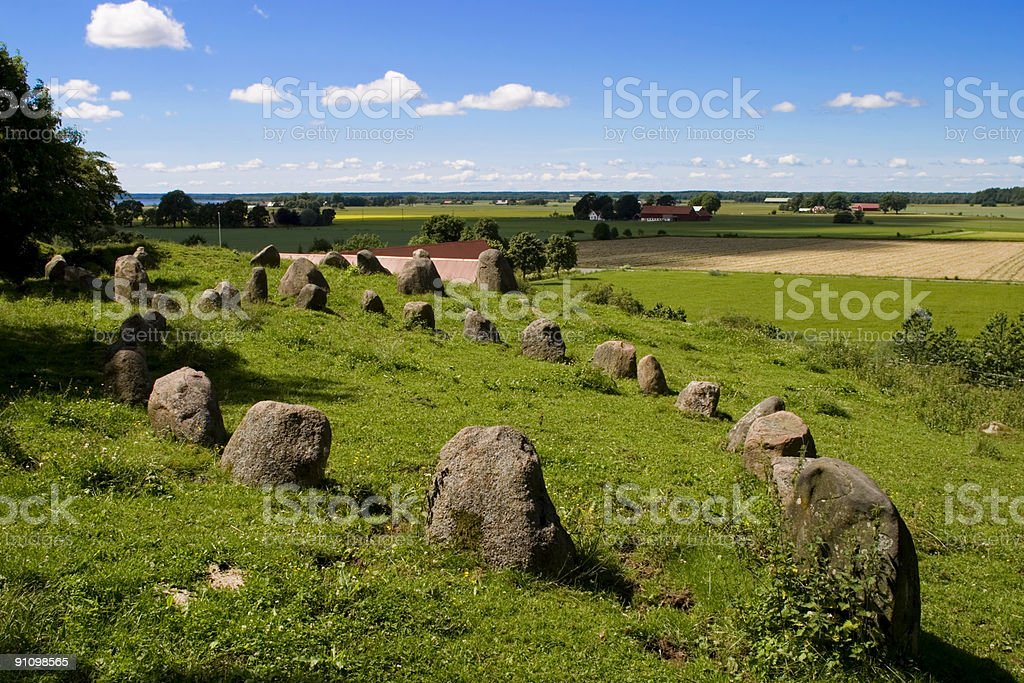 Stone circles royalty-free stock photo