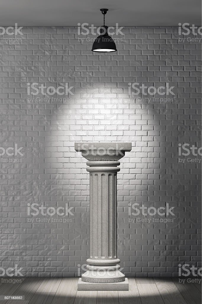 Stone Classic Greek Column stock photo