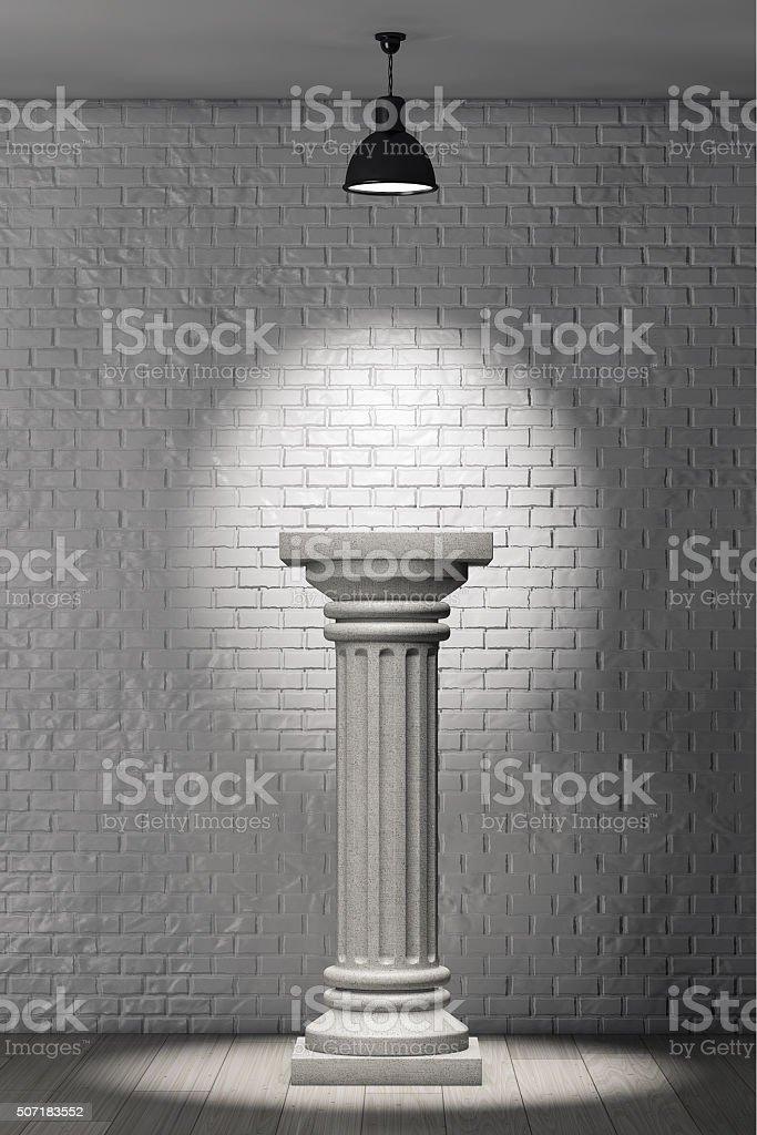 Stone Classic Greek Column stock photo