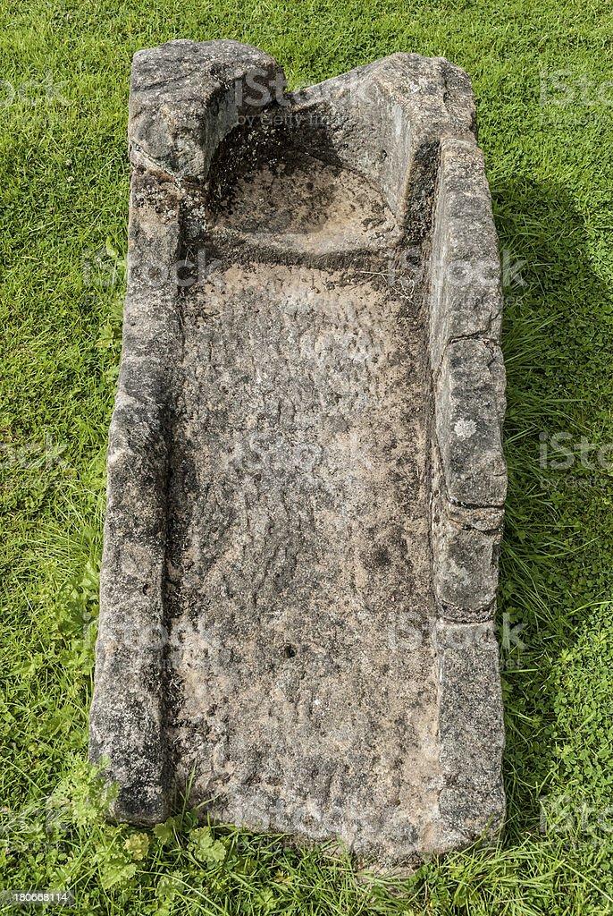 Stone Coffin royalty-free stock photo