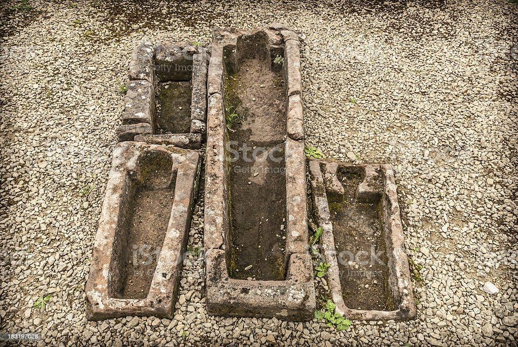 Stone Coffins royalty-free stock photo