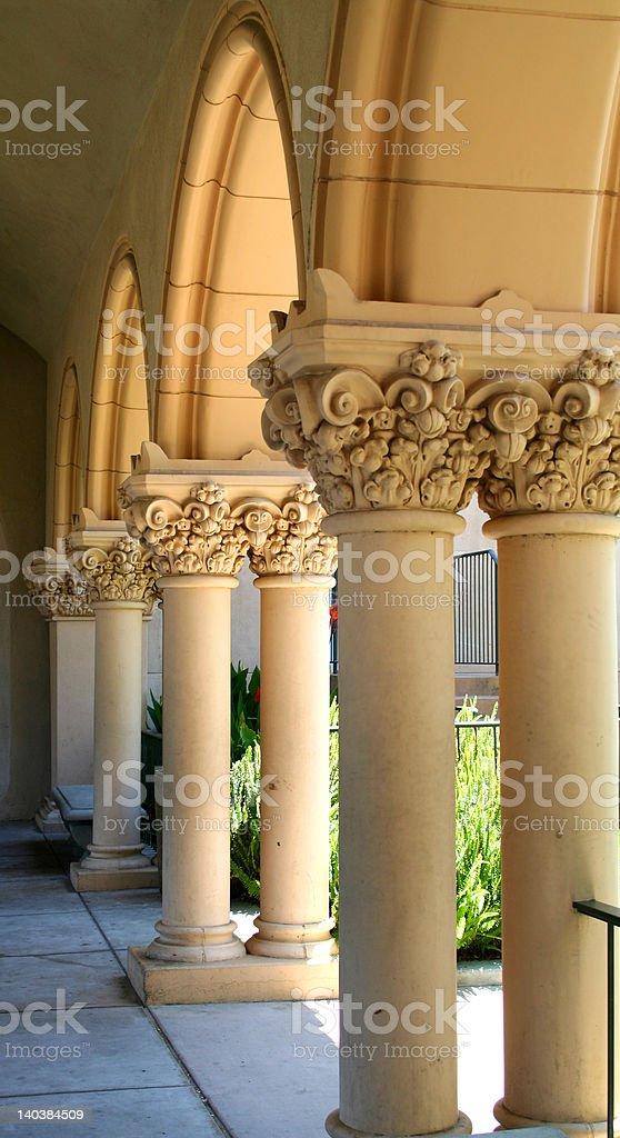 Stone Colonade royalty-free stock photo