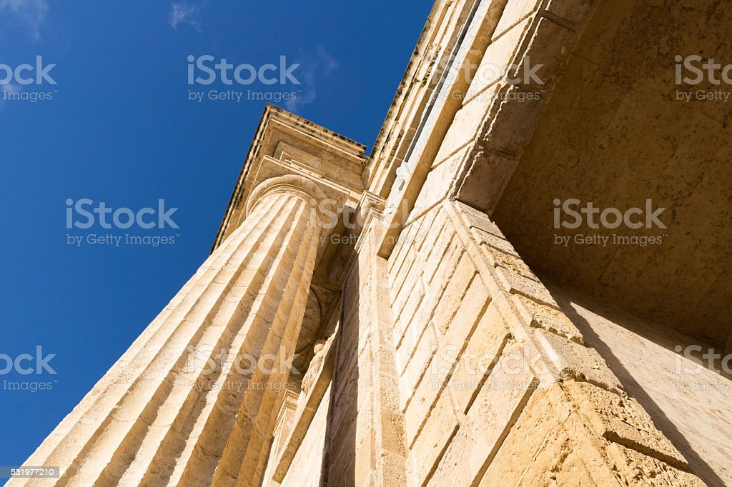 Stone column. stock photo