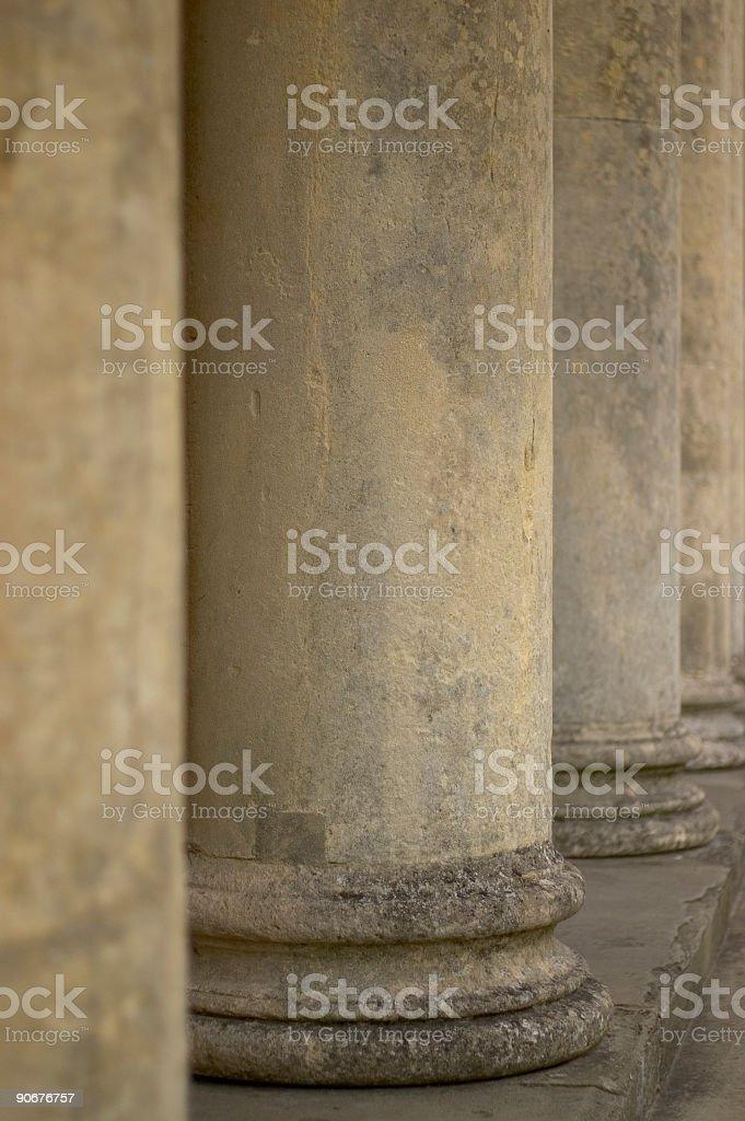 Stone columns 01 royalty-free stock photo