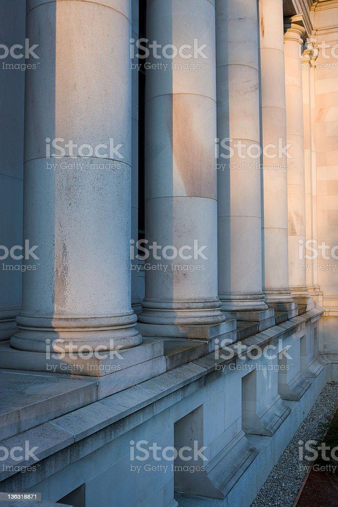 Stone Columns At Washington State Capitol stock photo