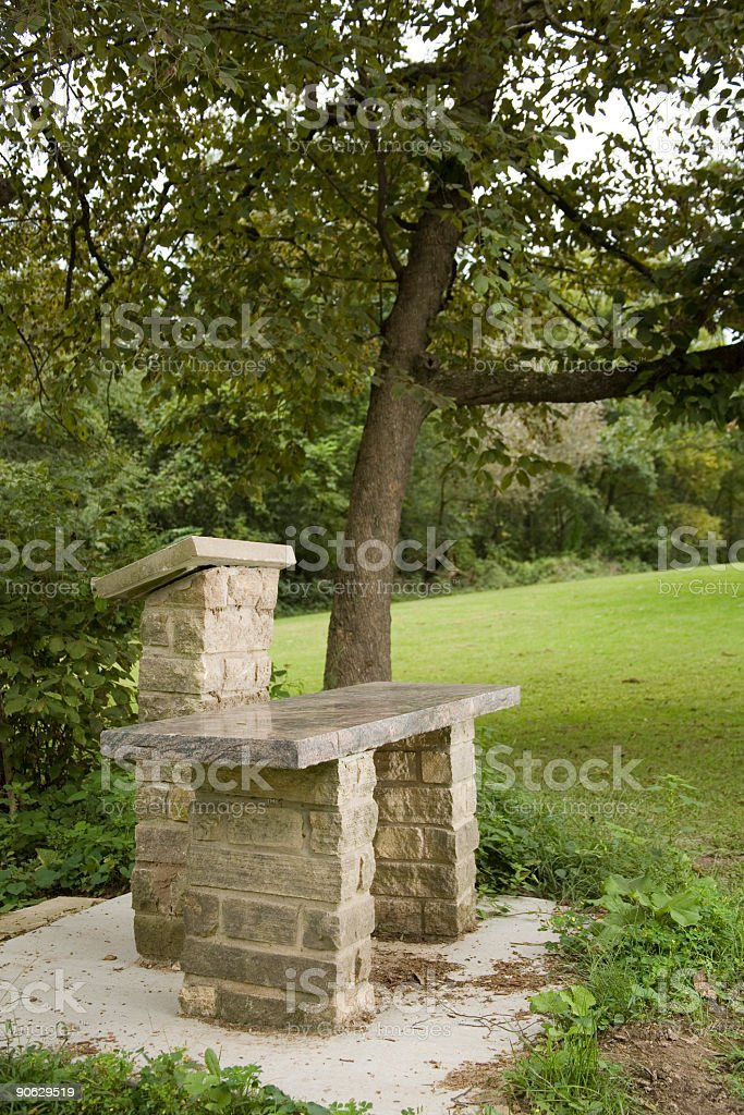 Stone Communion Table stock photo