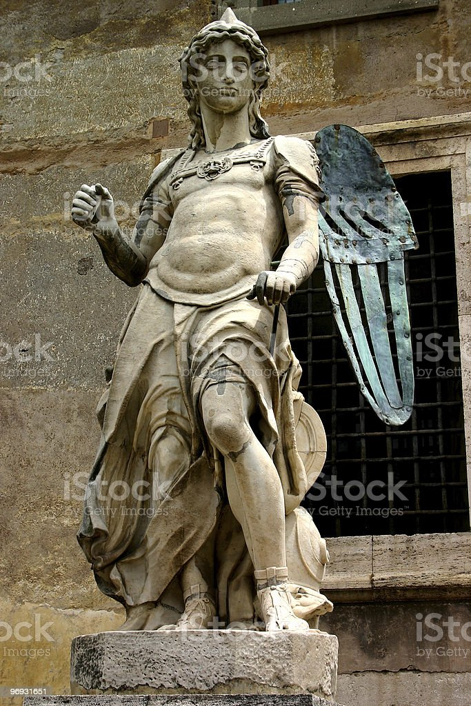 Stone copper angel royalty-free stock photo