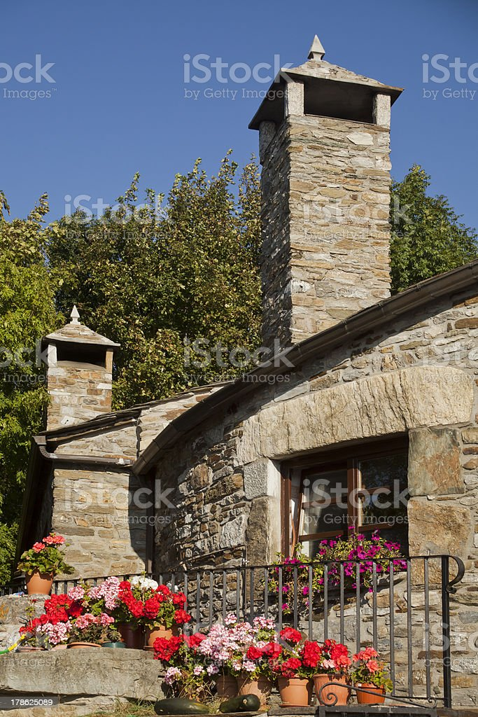 Stone country house royalty-free stock photo