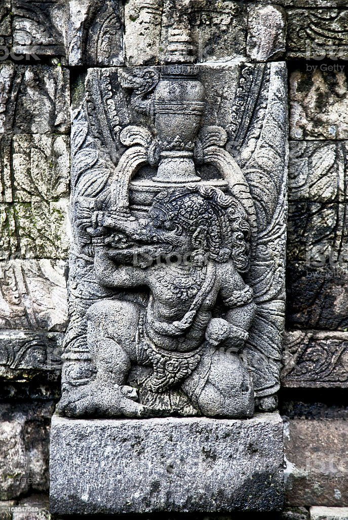Stone craft in Candi Kidal Temple near by Malang, Indonesia stock photo