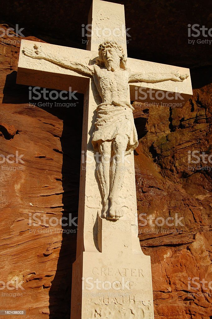 Stone Crucifix Monument royalty-free stock photo