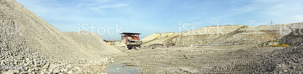 stone crusher in a Chalk Open-pit Mine royalty-free stock photo