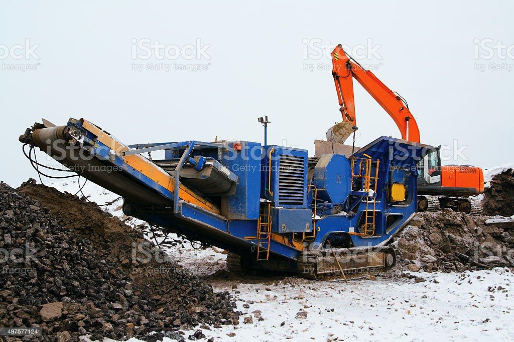 Stone crusher stock photo