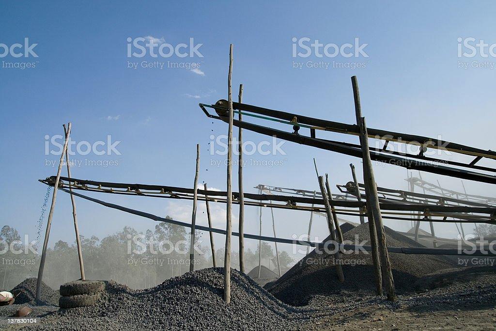 stone crushers in india stock photo