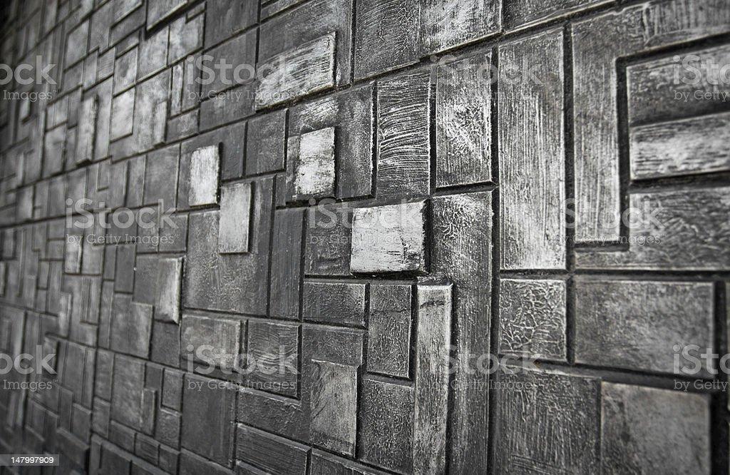 Stone cubes stock photo