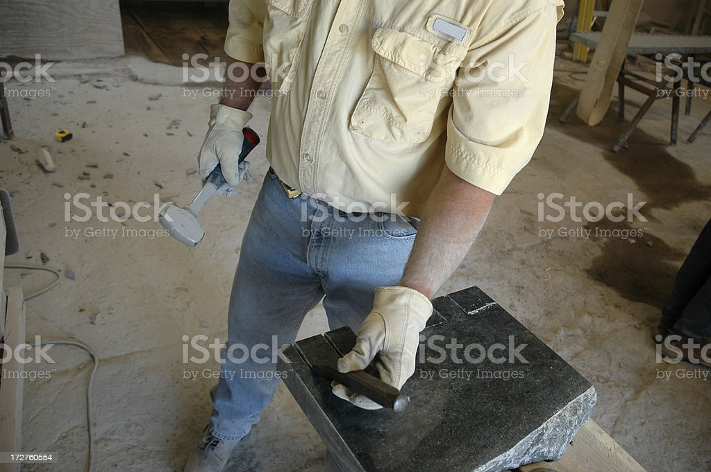 Stone Cutter stock photo