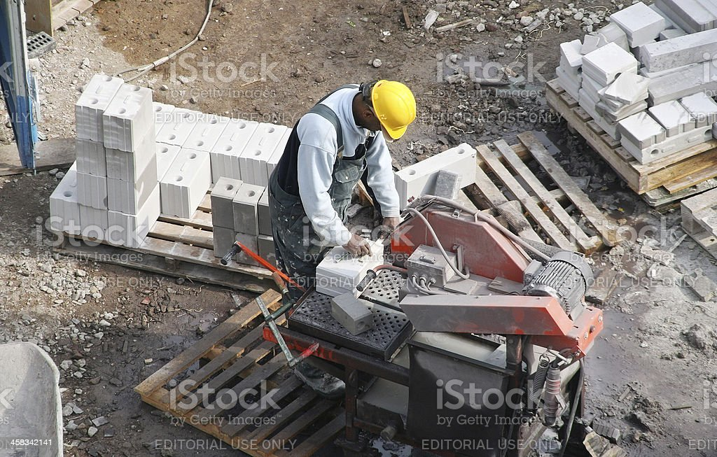 Stone Cutter royalty-free stock photo
