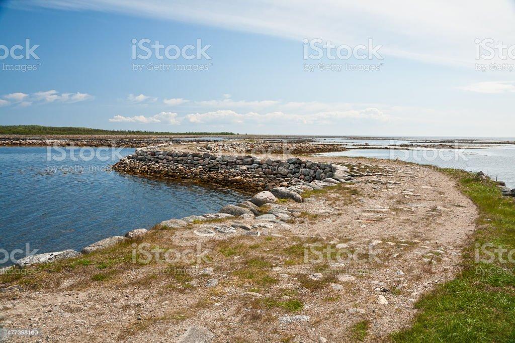 Stone dam stock photo