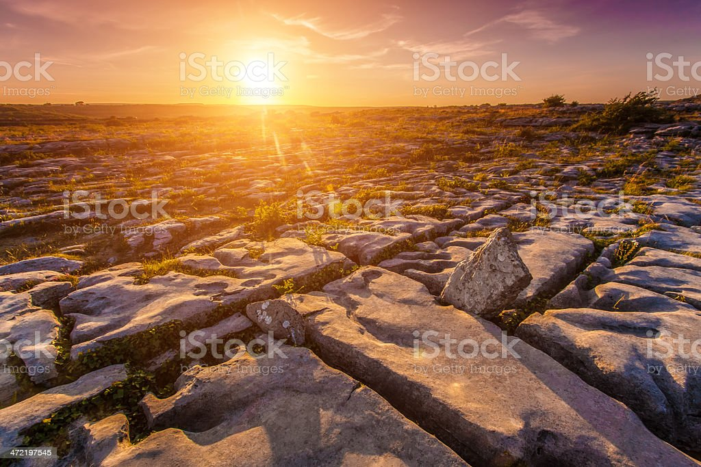 Stone desert at sunset royalty-free stock photo