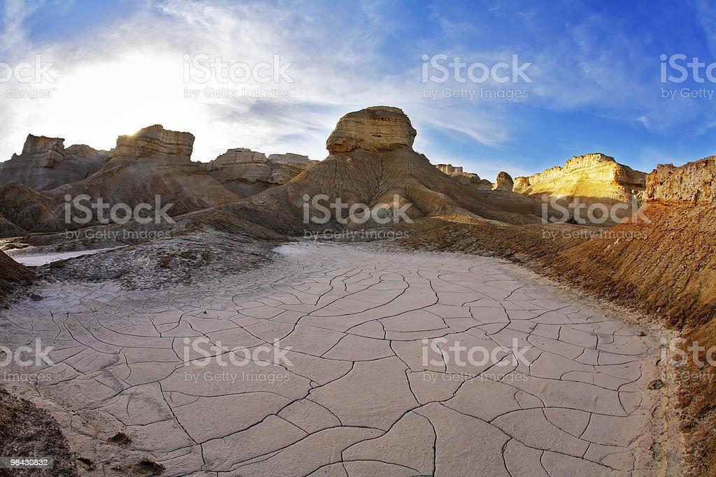 Stone desert on the Dead Sea. stock photo