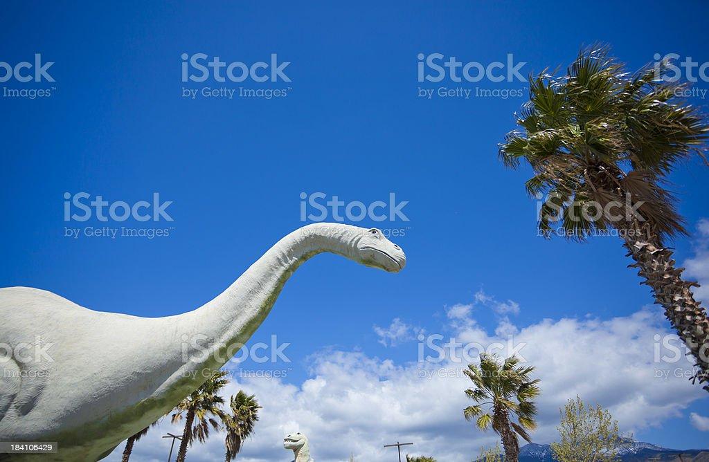 Stone Dinosaur stock photo