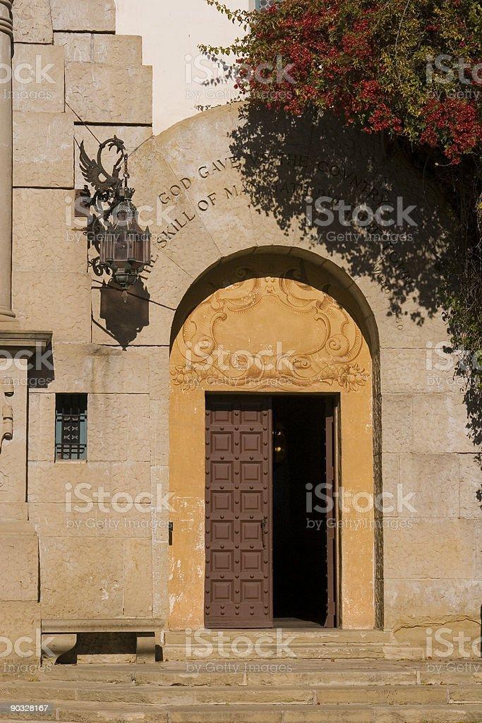 Stone Door royalty-free stock photo