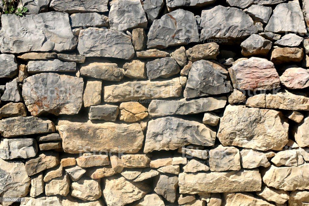 Stone Drywall stock photo