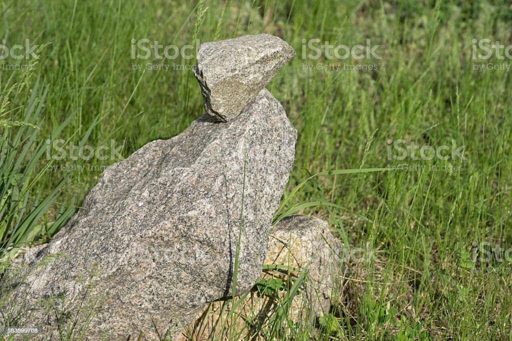 Stone eagle stock photo