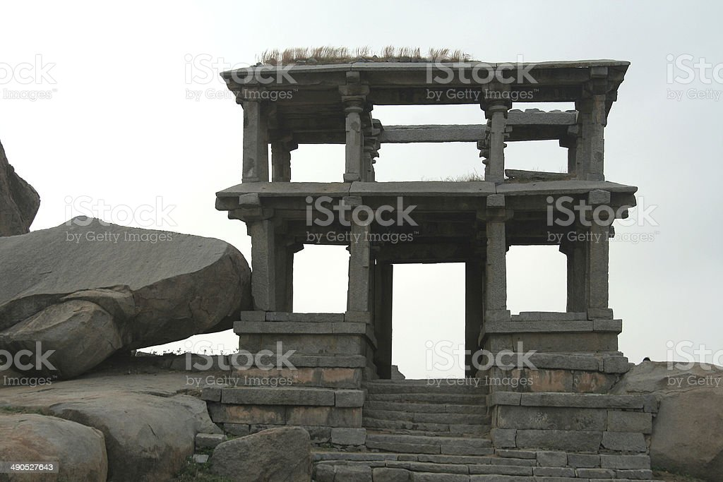 Stone Entrance and Gallery stock photo
