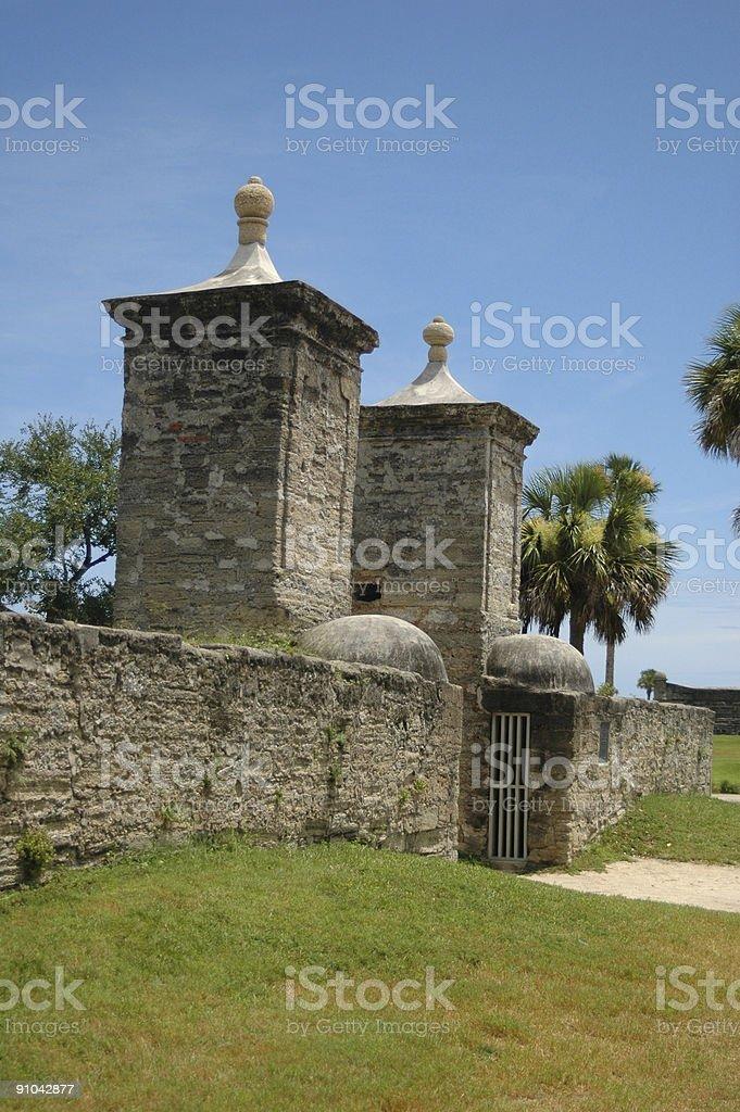 Stone Entrance Gate stock photo