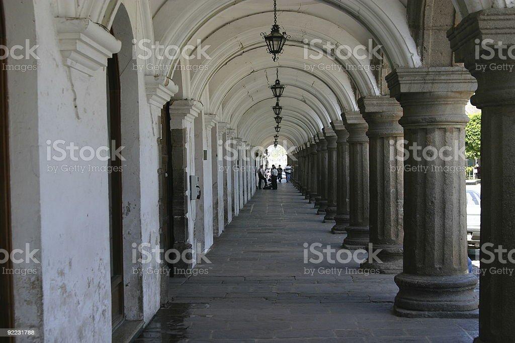 Stone entryway royalty-free stock photo