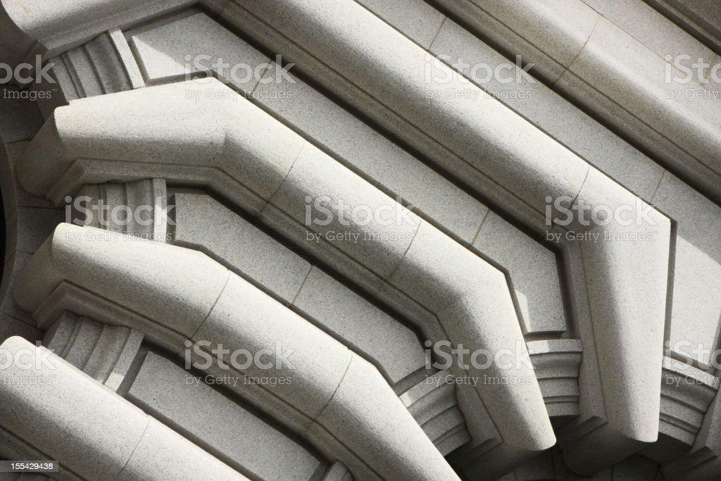 Stone Facade Fairmont Architecture stock photo
