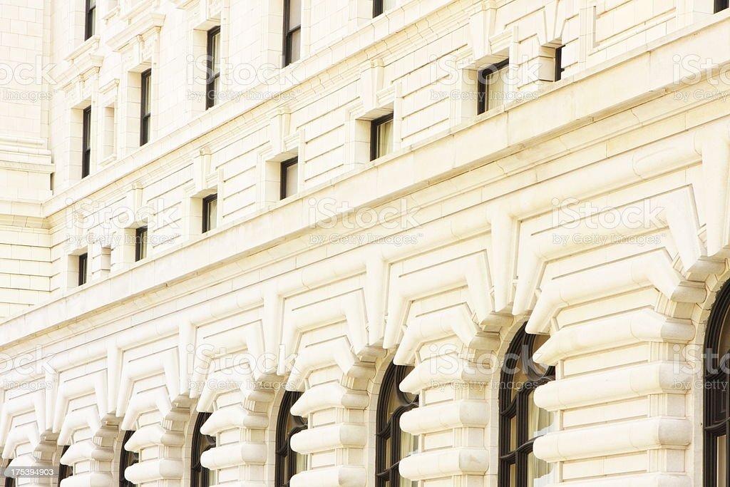 Stone Facade Fairmont Hotel Architecture stock photo