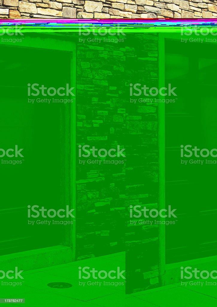 Stone Facade Window Luxury Home Architecture stock photo