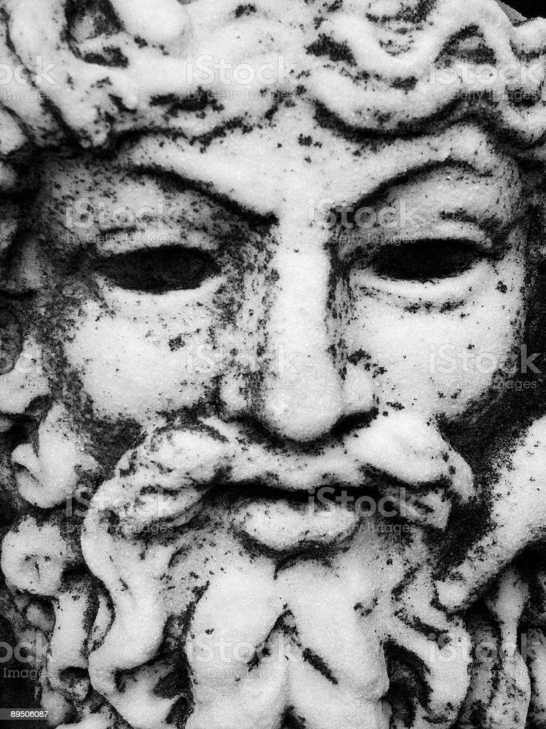 Stone Face stock photo