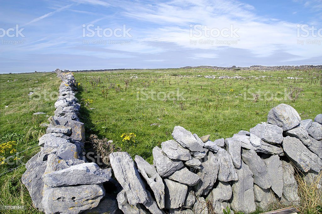 Stone Fence royalty-free stock photo