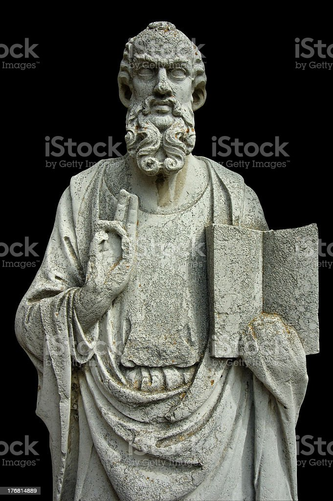 Stone figure (with clipping path) royalty-free stock photo