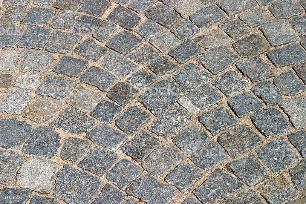 Stone floor mosaic royalty-free stock photo