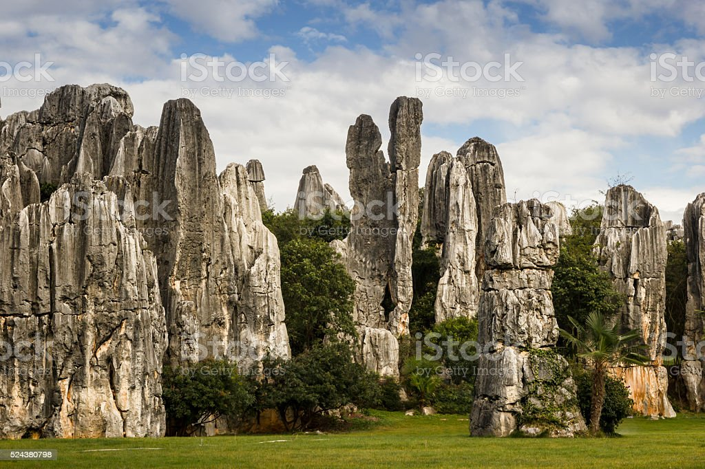 Stone Forest, Kunming, China stock photo