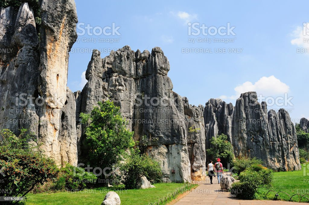 Stone Forrest Park scenery in Kunming,China. stock photo