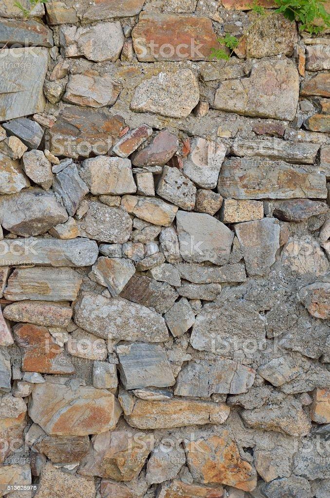 Stone fortress wall stock photo