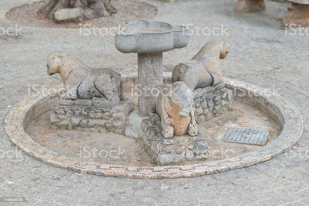 Stone fountain. stock photo