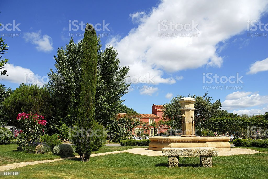 stone fountain royalty-free stock photo