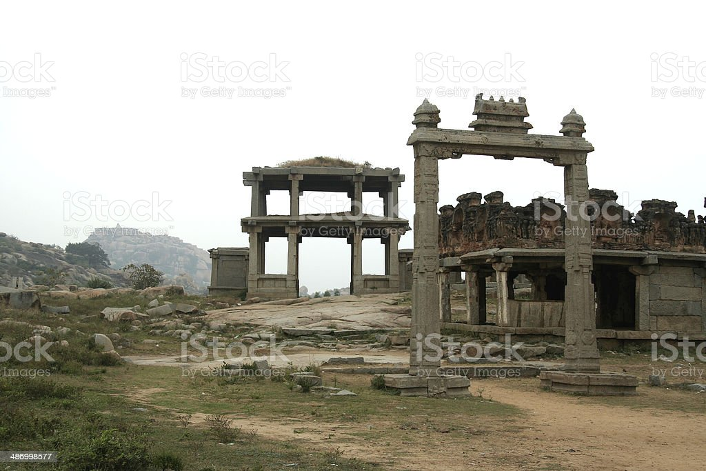 Stone Frame and Entrance stock photo