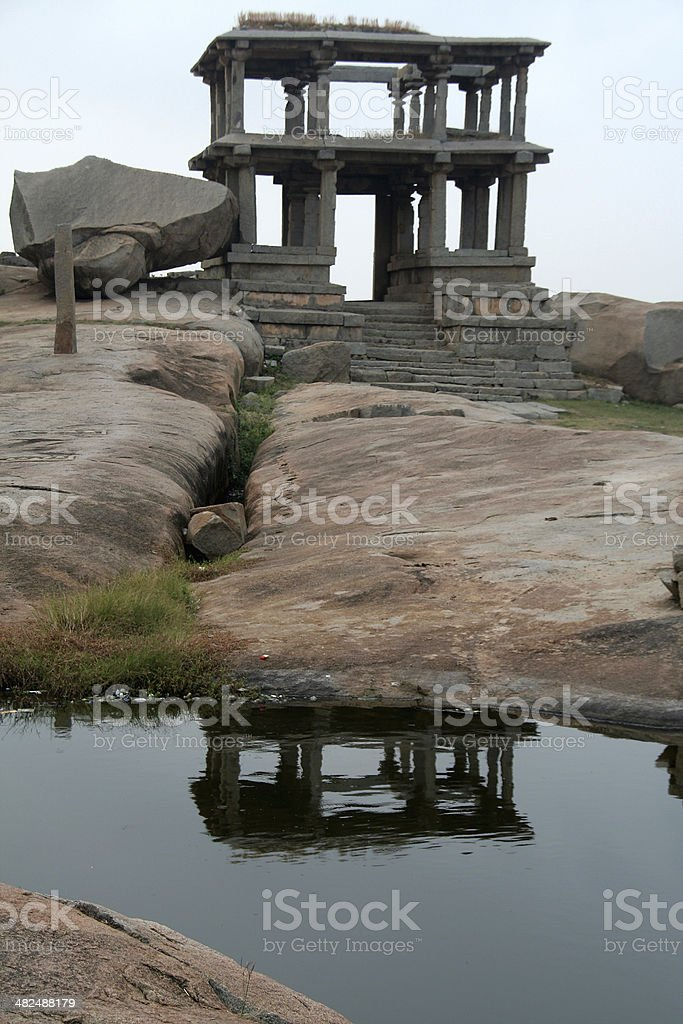 Stone Gallery and Reflection stock photo